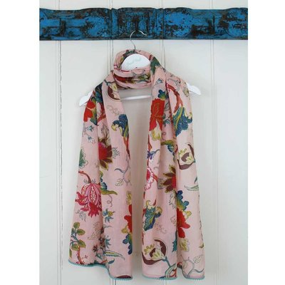 Powell Craft Scarve Cotton Pink Floral