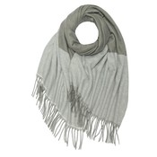 M&K Collection Scarf Cashmere Mix Zigzag gray