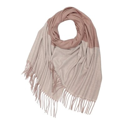 M&K Collection Scarf Cashmere Mix Zigzag pink