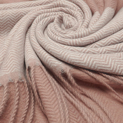 M&K Collection Schal Cashmere Mix  Zigzag pink