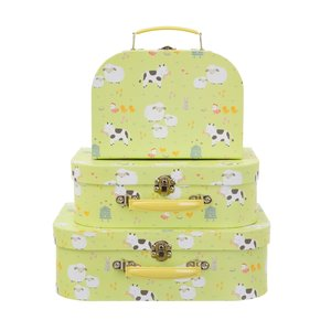 Sass & Belle Suitcase Farmyard Friends Set of 3