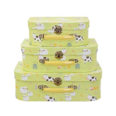 Sass & Belle Suitcase Farmyard Friends Set of 3