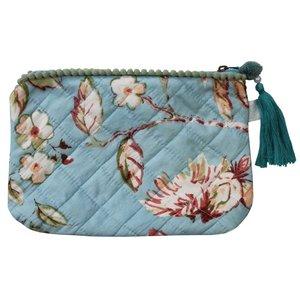 Powell Craft Make-up Bag Blue Blossom