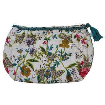 Powell Craft Wash Bag White Leaf