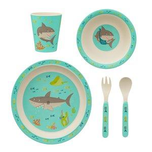 Sass & Belle Kindergeschirr Set Bamboo Shark