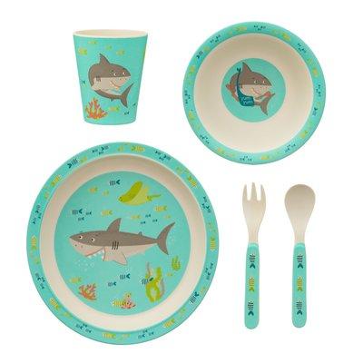 Sass & Belle Children's dinnerware set Bamboo Shark
