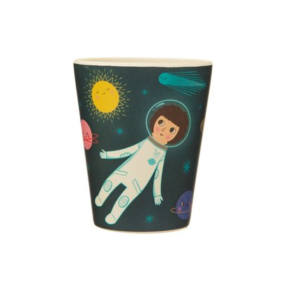 Sass & Belle Children's dinnerware set Bamboo Space Explorer