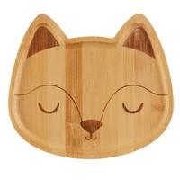 Sass & Belle Bamboo Plate Woodland Fox