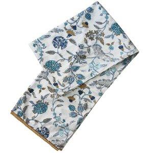 Powell Craft Scarve Cotton Floral Blue/White