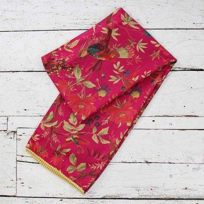 Powell Craft Scarve Cotton Bird hot pink