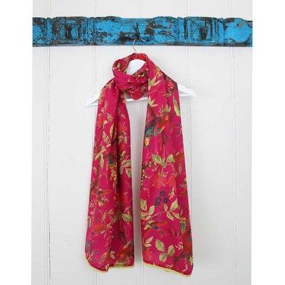 Powell Craft Schal Cotton Bird hot pink