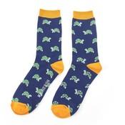 Miss Sparrow Männer-Socken Turtles navy