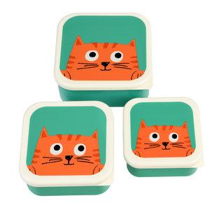 Rex London Snack-Boxen 3-set Set Chester the Cat
