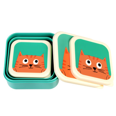 Rex London Snack Boxes set of 3 Chester the Cat