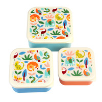 Rex London Snack Boxes set of 3 Wild Wonders