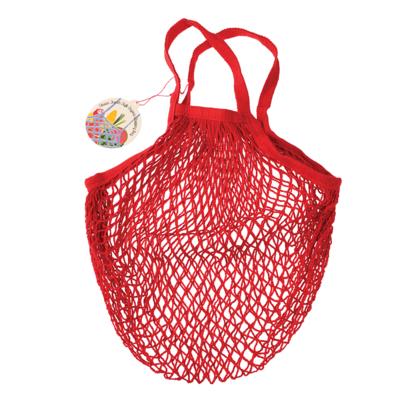 Rex London MIX Organic cotton shopping bag coral/grey/duckegg/red/greekblue