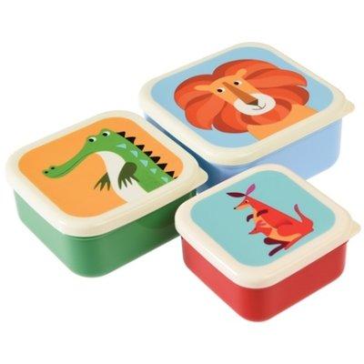 Rex London  MIX Snack boxes 3-set Rusty/Lion/Panda/Wild Wonders