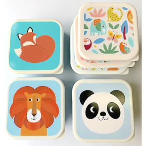 Rex London MIX Snack-Boxen 3-Set Rusty/Lion/Panda/Wild Wonders