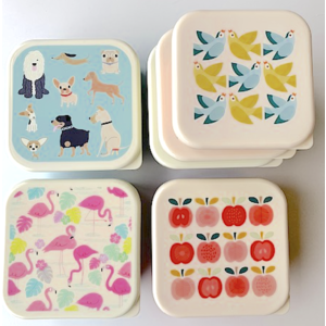 Rex London MIX Snack boxes 3-set Best in Show/Love Bird/Flamingo/Apple