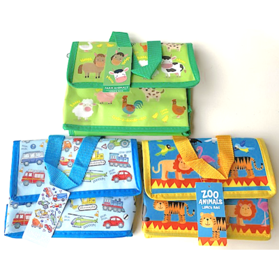 Lesser & Pavey MIX Lunch bag Farmyard/Zoo/Vehicles