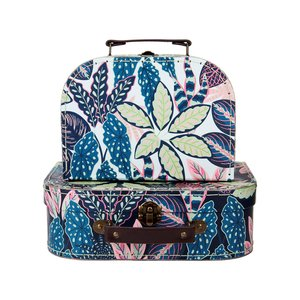 Sass & Belle Suitcase Leaves Set of 2