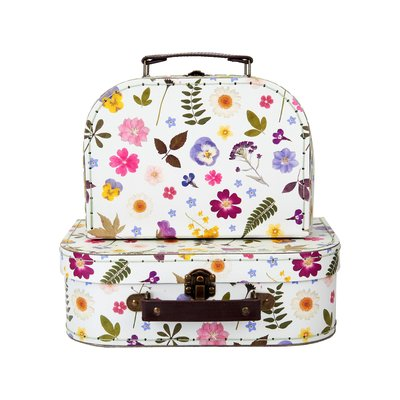 Sass & Belle Suitcase Pressed Flowers Set of 2