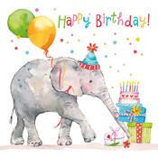 Paperproducts Design Papierservietten  Birthday Elephant