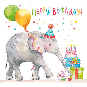Paperproducts Design Paper Napkins  Birthday Elephant