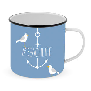 Paperproducts Design Emaille Becher Beach