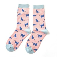 Miss Sparrow Socken Bamboo Cats pink