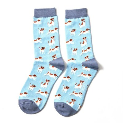 Miss Sparrow Socken Bamboo Jack Russells powder blue