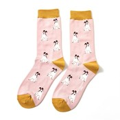 Miss Sparrow Socken Bamboo Fox Terrier dusky pink