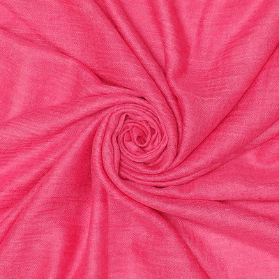 Pure & Cozy Scarf Cotton / Wool hot pink