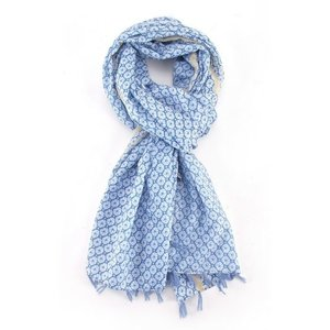 M&K Collection Scarf Tassel Blossom light blue