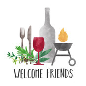 Paperproducts Design Paper Napkins Grill & Friends
