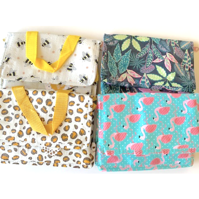 Sass & Belle MIX Lunch-Tasche  Bees/Leaves/Leopard/Flamingo