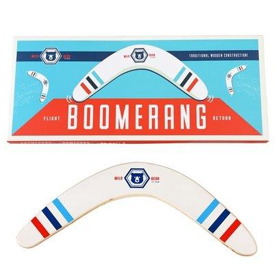 Rex London Boomerang Wooden Wild Bear