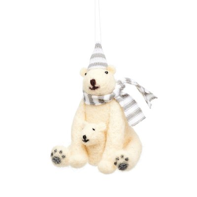 Sass & Belle Christmas hanger Polar Bear with Baby