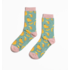 Miss Sparrow Socks Bamboo Bananas turquoise