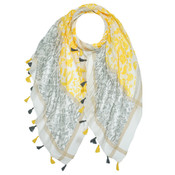 M&K Collection Schal Tassel Marrakech-yellow