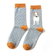 Miss Sparrow Socks Bamboo Jack Russel Pup duck egg
