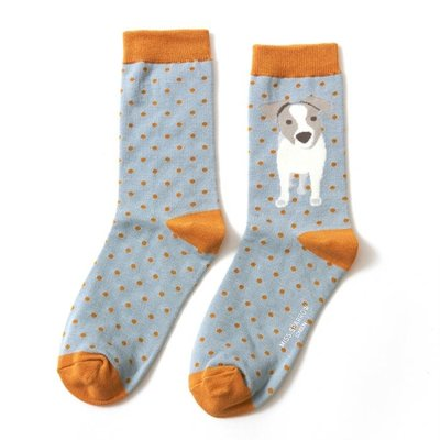 Miss Sparrow Socken Bamboo Jack Russel Pup duck egg