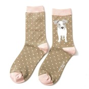 Miss Sparrow Socken Bamboo Jack Russel Pup olive
