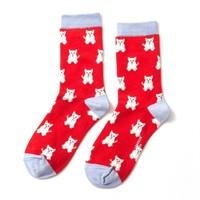 Miss Sparrow Socks Bamboo Mini Westies red