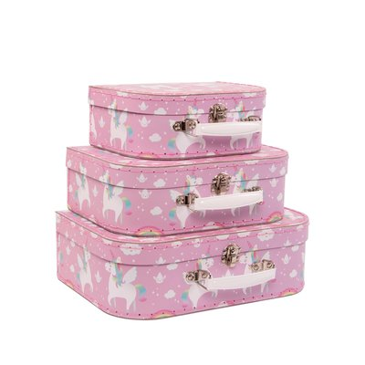 Sass & Belle Suitcase Rainbow Unicorn Set of 3