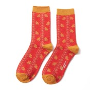 Miss Sparrow Socken Bamboo Vines orange