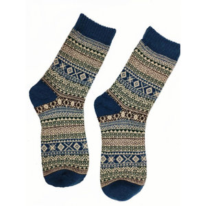 Joya Socks Men Wollmix Fairisle Light Blue Heal