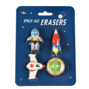 Rex London Erasers Space Age Set of 4