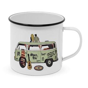 Paperproducts Design Enamel Mug Happy Freedom