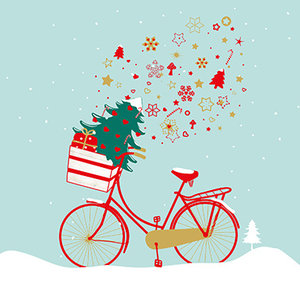 Paperproducts Design Paper Napkins Xmas Bike Heaven